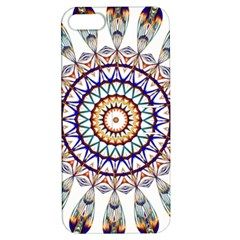 Circle Star Rainbow Color Blue Gold Prismatic Mandala Line Art Apple Iphone 5 Hardshell Case With Stand