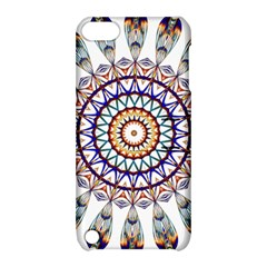 Circle Star Rainbow Color Blue Gold Prismatic Mandala Line Art Apple Ipod Touch 5 Hardshell Case With Stand