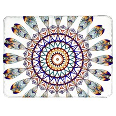 Circle Star Rainbow Color Blue Gold Prismatic Mandala Line Art Samsung Galaxy Tab 7  P1000 Flip Case