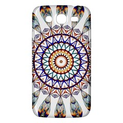 Circle Star Rainbow Color Blue Gold Prismatic Mandala Line Art Samsung Galaxy Mega 5 8 I9152 Hardshell Case