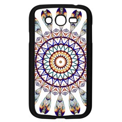 Circle Star Rainbow Color Blue Gold Prismatic Mandala Line Art Samsung Galaxy Grand Duos I9082 Case (black)