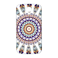 Circle Star Rainbow Color Blue Gold Prismatic Mandala Line Art Samsung Galaxy S4 I9500/i9505  Hardshell Back Case