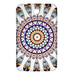 Circle Star Rainbow Color Blue Gold Prismatic Mandala Line Art Samsung Galaxy Tab 3 (7 ) P3200 Hardshell Case