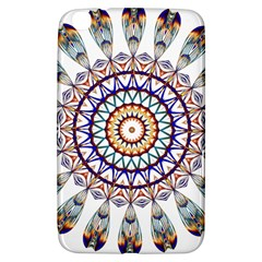 Circle Star Rainbow Color Blue Gold Prismatic Mandala Line Art Samsung Galaxy Tab 3 (8 ) T3100 Hardshell Case