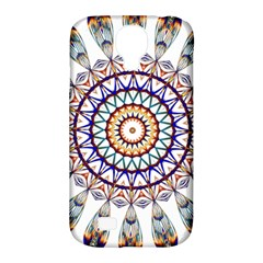 Circle Star Rainbow Color Blue Gold Prismatic Mandala Line Art Samsung Galaxy S4 Classic Hardshell Case (pc+silicone)