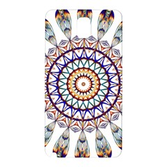 Circle Star Rainbow Color Blue Gold Prismatic Mandala Line Art Samsung Galaxy Note 3 N9005 Hardshell Back Case by Alisyart
