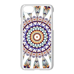 Circle Star Rainbow Color Blue Gold Prismatic Mandala Line Art Apple Iphone 7 Seamless Case (white) by Alisyart
