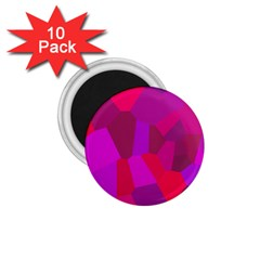 Voronoi Pink Purple 1 75  Magnets (10 Pack)  by Alisyart