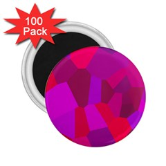 Voronoi Pink Purple 2 25  Magnets (100 Pack)