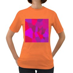 Voronoi Pink Purple Women s Dark T Shirt by Alisyart