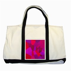 Voronoi Pink Purple Two Tone Tote Bag