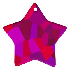 Voronoi Pink Purple Star Ornament (two Sides) by Alisyart
