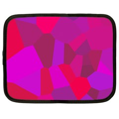 Voronoi Pink Purple Netbook Case (xxl)  by Alisyart