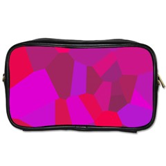 Voronoi Pink Purple Toiletries Bags by Alisyart