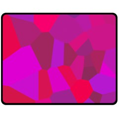 Voronoi Pink Purple Fleece Blanket (medium)