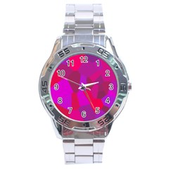 Voronoi Pink Purple Stainless Steel Analogue Watch
