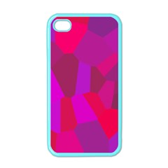 Voronoi Pink Purple Apple Iphone 4 Case (color) by Alisyart