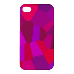 Voronoi Pink Purple Apple Iphone 4/4s Hardshell Case by Alisyart