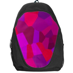Voronoi Pink Purple Backpack Bag by Alisyart