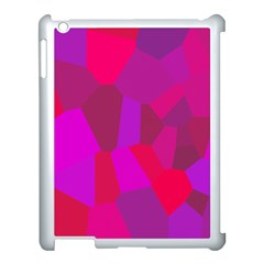 Voronoi Pink Purple Apple Ipad 3/4 Case (white)