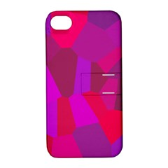 Voronoi Pink Purple Apple Iphone 4/4s Hardshell Case With Stand