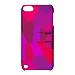 Voronoi Pink Purple Apple Ipod Touch 5 Hardshell Case With Stand by Alisyart