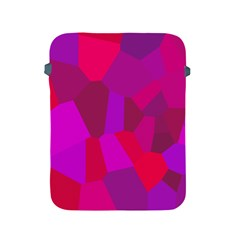 Voronoi Pink Purple Apple Ipad 2/3/4 Protective Soft Cases by Alisyart