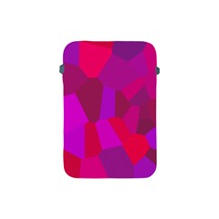 Voronoi Pink Purple Apple Ipad Mini Protective Soft Cases by Alisyart