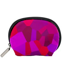 Voronoi Pink Purple Accessory Pouches (small)  by Alisyart