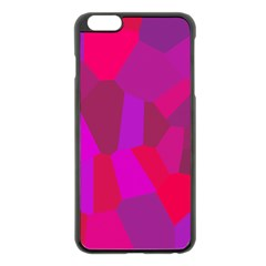 Voronoi Pink Purple Apple Iphone 6 Plus/6s Plus Black Enamel Case by Alisyart