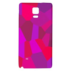 Voronoi Pink Purple Galaxy Note 4 Back Case by Alisyart