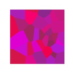 Voronoi Pink Purple Small Satin Scarf (square)