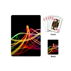 Vortex Rainbow Twisting Light Blurs Green Orange Green Pink Purple Playing Cards (mini)  by Alisyart