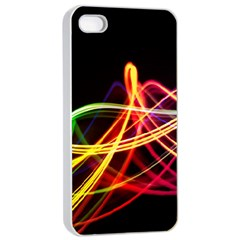 Vortex Rainbow Twisting Light Blurs Green Orange Green Pink Purple Apple Iphone 4/4s Seamless Case (white) by Alisyart