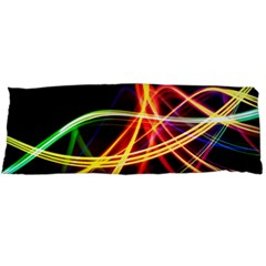 Vortex Rainbow Twisting Light Blurs Green Orange Green Pink Purple Body Pillow Case (dakimakura)