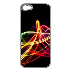 Vortex Rainbow Twisting Light Blurs Green Orange Green Pink Purple Apple Iphone 5 Case (silver) by Alisyart