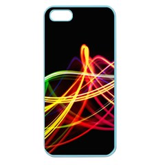 Vortex Rainbow Twisting Light Blurs Green Orange Green Pink Purple Apple Seamless Iphone 5 Case (color) by Alisyart