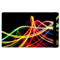 Vortex Rainbow Twisting Light Blurs Green Orange Green Pink Purple Apple Ipad 2 Flip Case by Alisyart