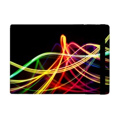 Vortex Rainbow Twisting Light Blurs Green Orange Green Pink Purple Apple Ipad Mini Flip Case by Alisyart
