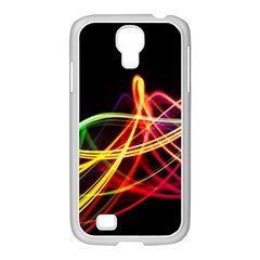Vortex Rainbow Twisting Light Blurs Green Orange Green Pink Purple Samsung Galaxy S4 I9500/ I9505 Case (white)