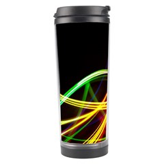 Vortex Rainbow Twisting Light Blurs Green Orange Green Pink Purple Travel Tumbler by Alisyart
