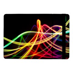 Vortex Rainbow Twisting Light Blurs Green Orange Green Pink Purple Samsung Galaxy Tab Pro 10 1  Flip Case
