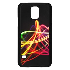 Vortex Rainbow Twisting Light Blurs Green Orange Green Pink Purple Samsung Galaxy S5 Case (black)