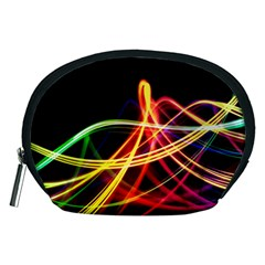 Vortex Rainbow Twisting Light Blurs Green Orange Green Pink Purple Accessory Pouches (medium)