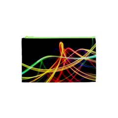 Vortex Rainbow Twisting Light Blurs Green Orange Green Pink Purple Cosmetic Bag (xs) by Alisyart