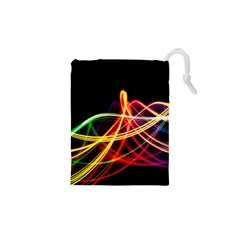 Vortex Rainbow Twisting Light Blurs Green Orange Green Pink Purple Drawstring Pouches (xs)