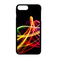 Vortex Rainbow Twisting Light Blurs Green Orange Green Pink Purple Apple Iphone 7 Plus Seamless Case (black)