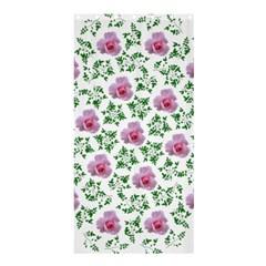 Rose Flower Pink Leaf Green Shower Curtain 36  X 72  (stall)  by Alisyart