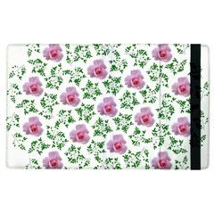 Rose Flower Pink Leaf Green Apple Ipad 2 Flip Case by Alisyart