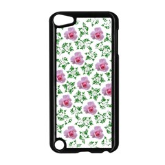 Rose Flower Pink Leaf Green Apple Ipod Touch 5 Case (black) by Alisyart